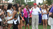 Donald Trump and Miss Universe contestants hit links in Miami