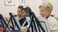 Burb's Eye View: Wine, paint and learning on their palette