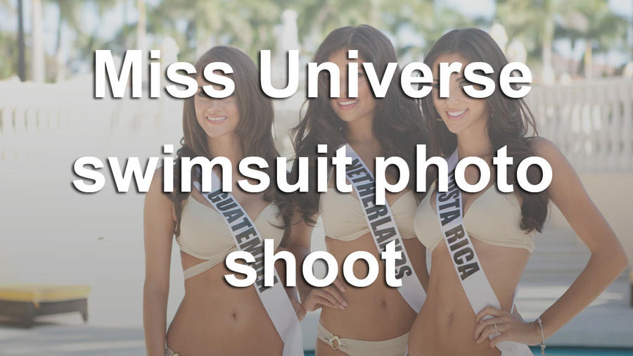 63rd Annual Miss Universe Pageant swimsuit photo shoot