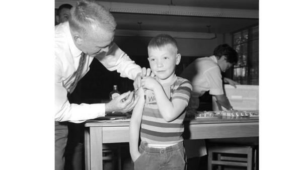 Childhood immunization circa early 1960s