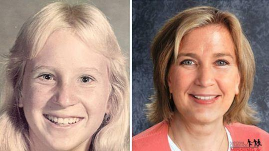 Photo shows the age-progressed image of Dana Null who disappeared at the age of 15 and what she may have looked like at the age of 48.