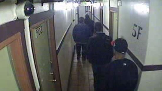 Hotel surveillance video