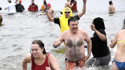 Carroll residents take on the Polar Bear Plunge in Annapolis