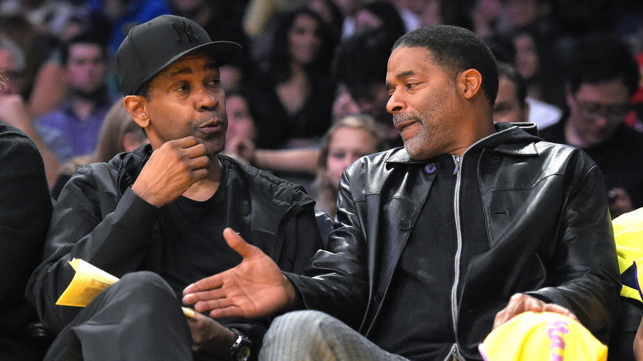 Photo of Denzel Washington & his friend  Norm Nixon