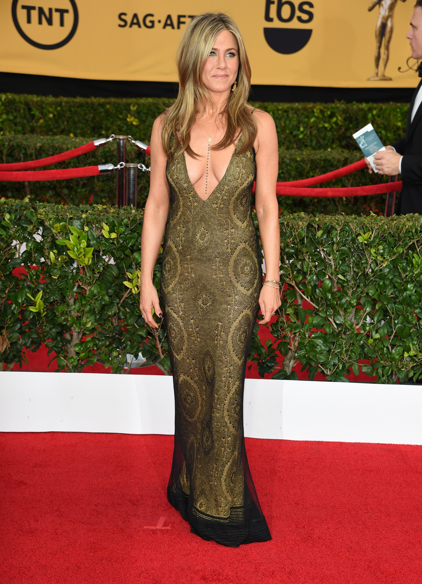 Jennifer aniston dress golden globes