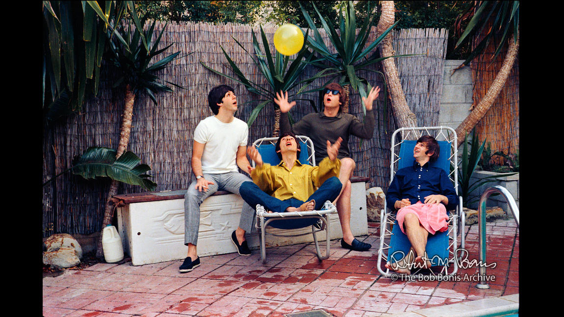 The Beatles on vacation in Bel Air, August 1964