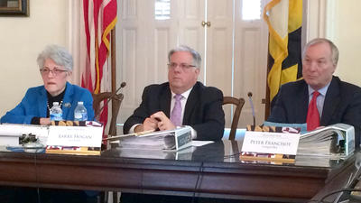 Hogan rejects contract in his Board of Public Works debut