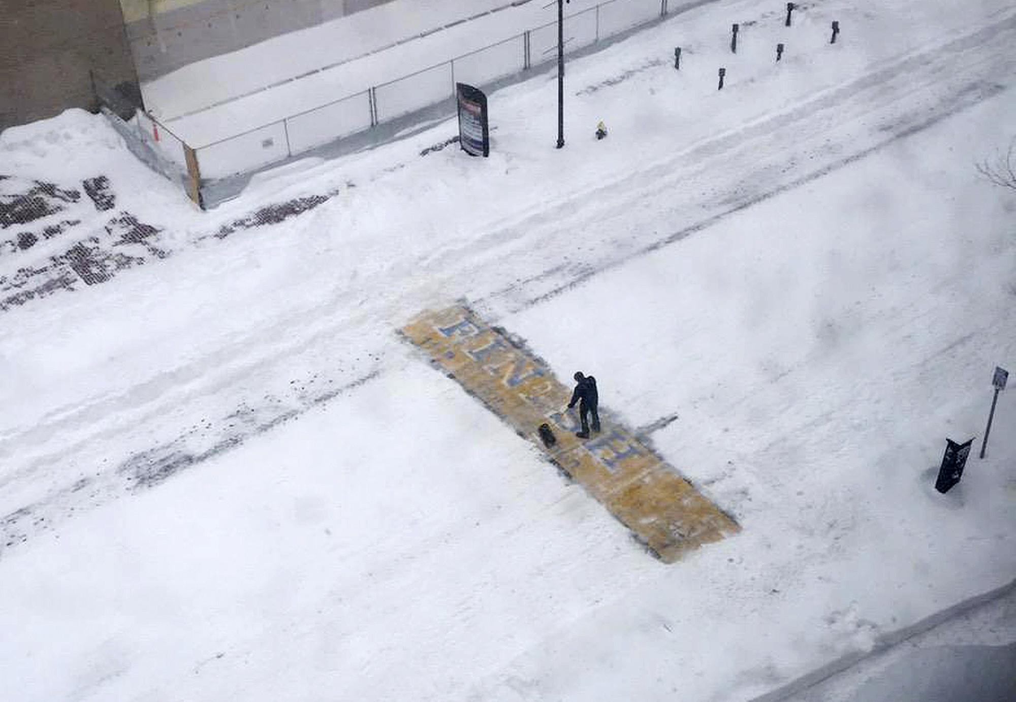 Man who shoveled snow from Boston Marathon finish line identified