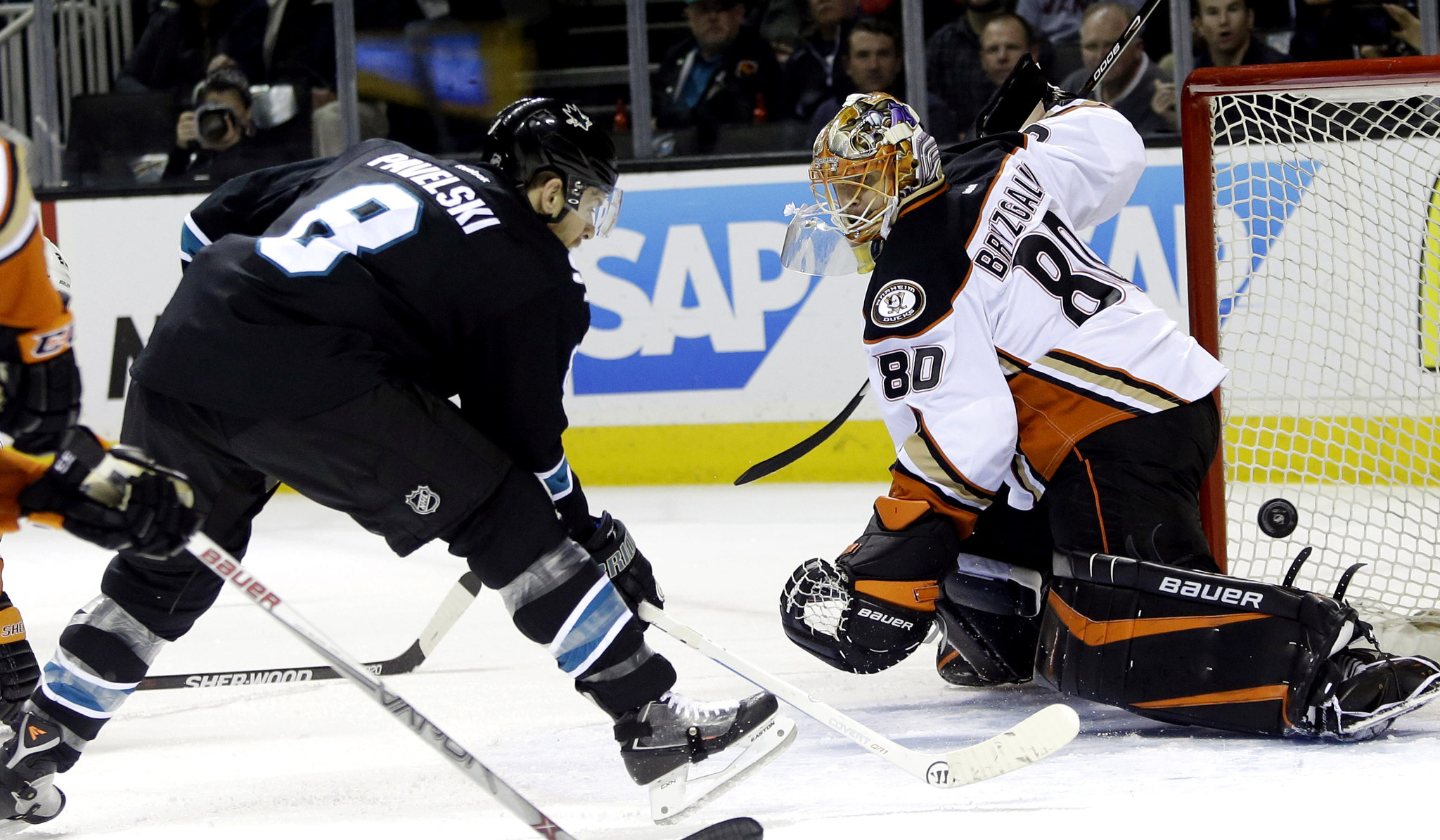 Ducks' night goes wrong in second period, fall to Sharks, 6-3