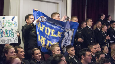 Oh, the places you'll SWO: Naval Academy seniors pick ships