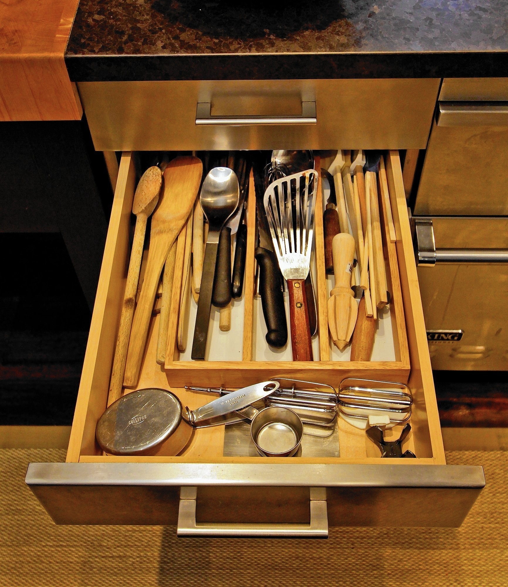 When she opens the kitchen cabinets, memories spill forth