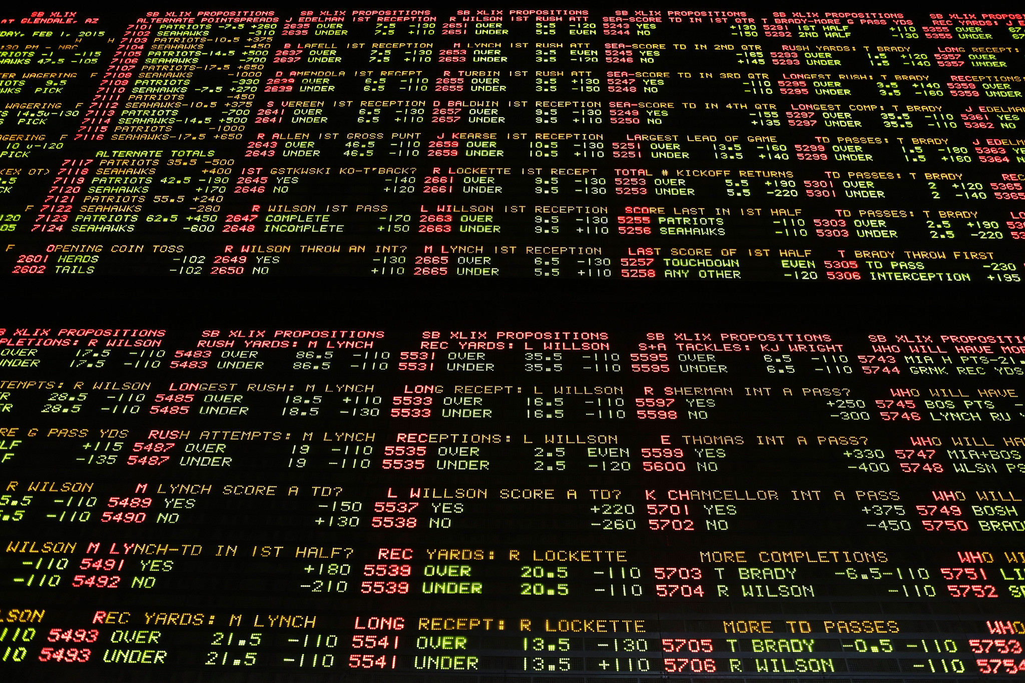 Super Bowl Sports Betting Odds