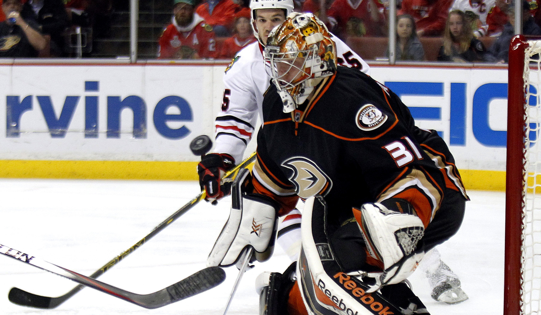 Ducks are outplayed by Blackhawks in 4-1 loss