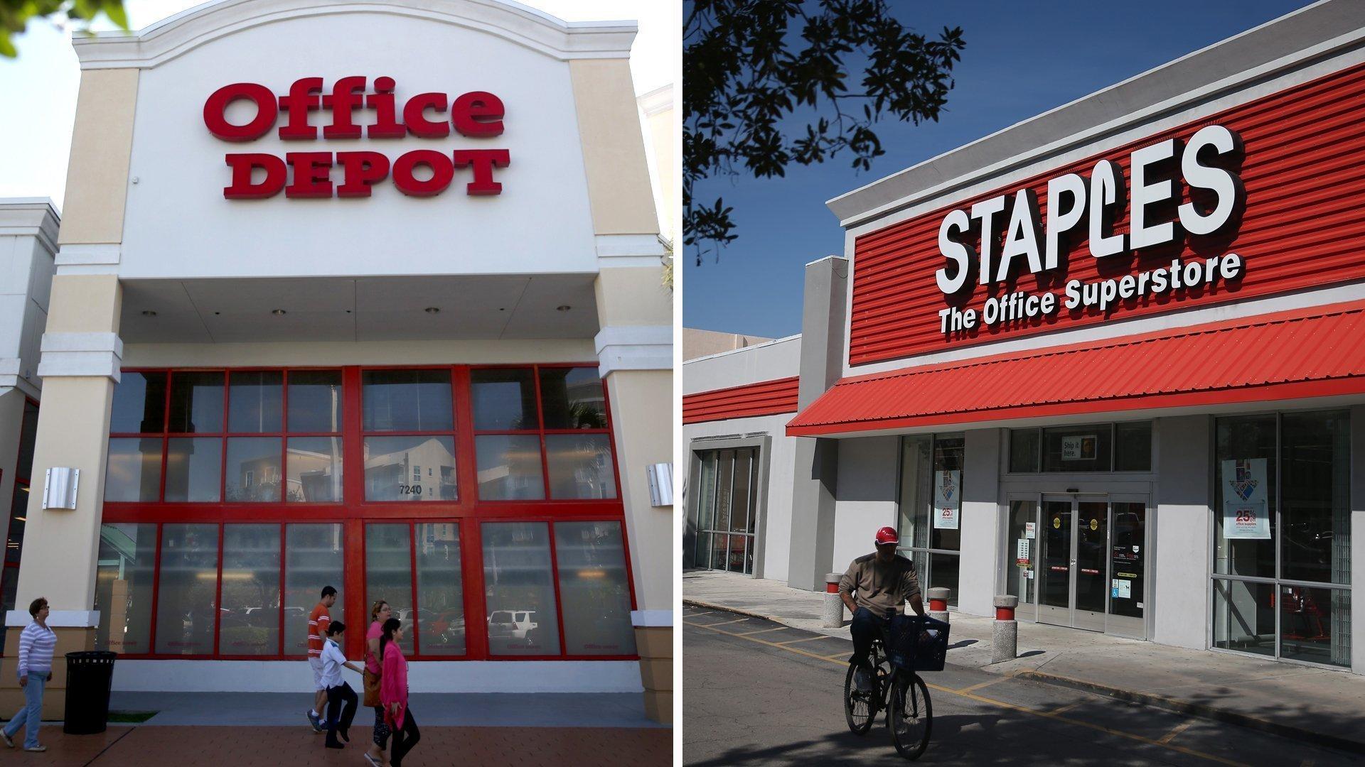 staples buys office depot for 6 billion la times