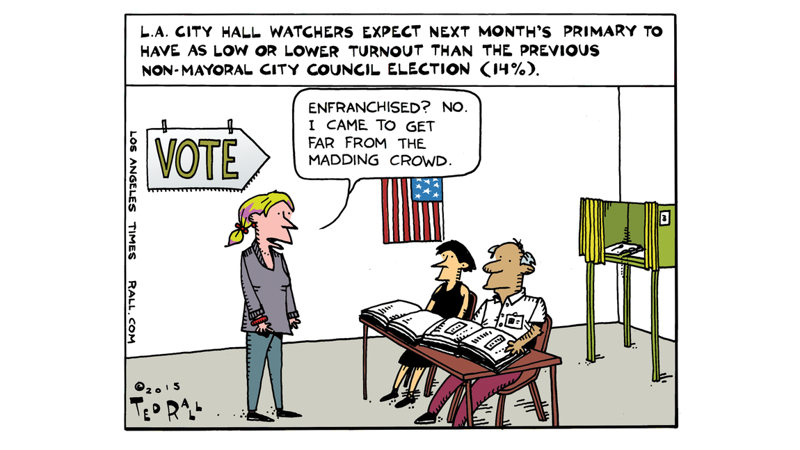 L.A.'s seriously low voter turnout
