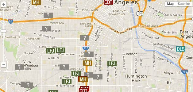 Map Serial Killers In South LA LA Times - Map of serial killers are active in the us