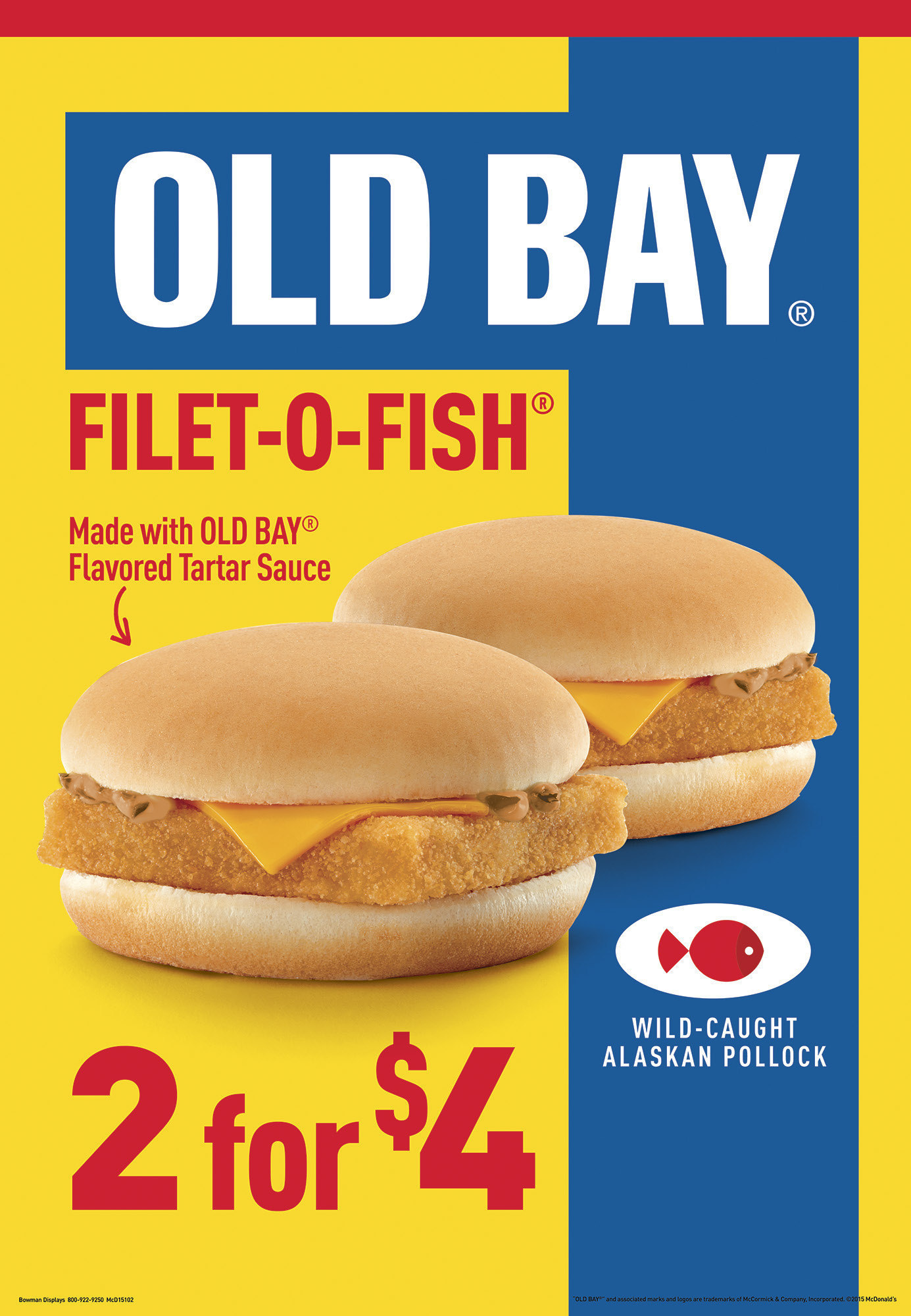 Mcdonald 39 s to offer filet o fish with old bay baltimore sun for Mcdonalds fish fillet