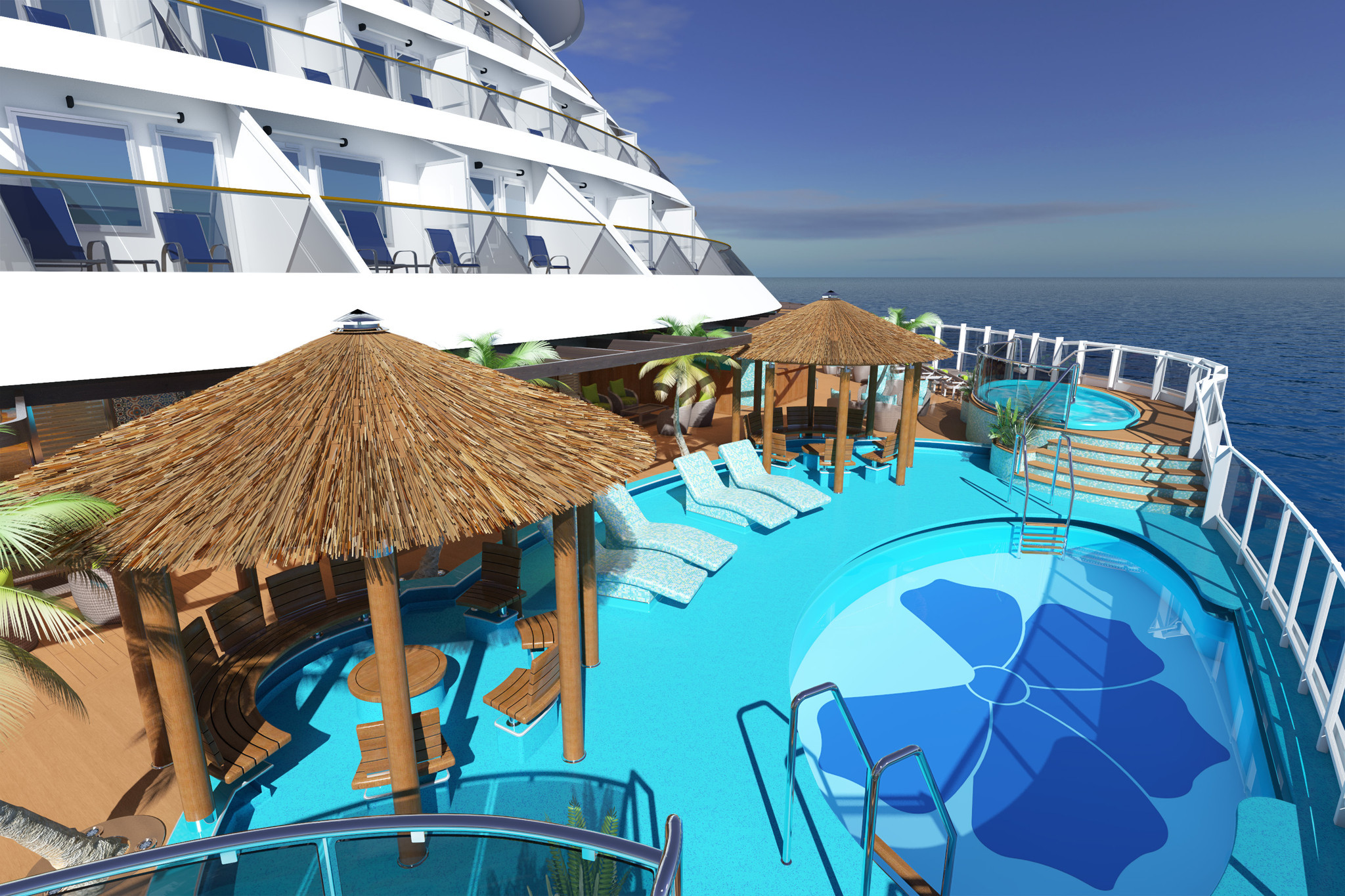 Imax Theater Water Park And Pool Cabanas On New Carnival Vista La Times