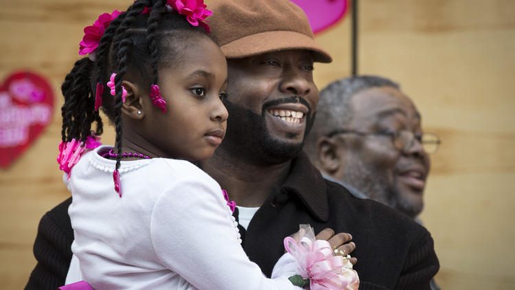 At daddy-daughter dances, black fatherhood celebrated