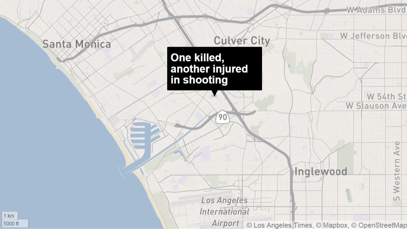 One Killed Another Injured In Shooting Near Culver City LA Times - Los angeles map culver city