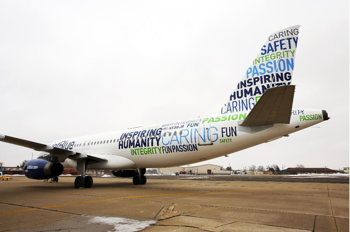 mission and vision of jetblue airways Jetblue's svp of commercial on marketing, mission statements  tell me about jetblue's mission  the team has a good balance between strategic vision and.