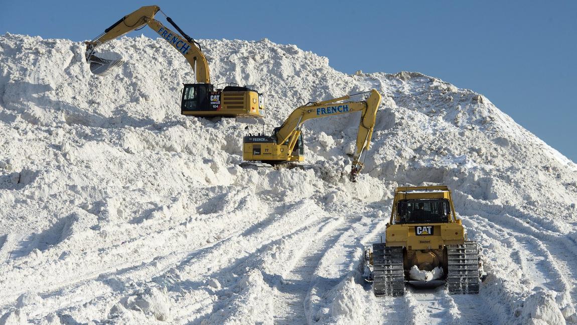 Boston buried in snow
