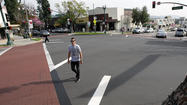 New diagonal crosswalk installed in Montrose