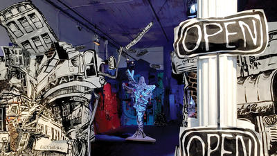 'RFP' at EMP and '100% YES' at Current Space use collaborative art practices to emphasize the individual in a community