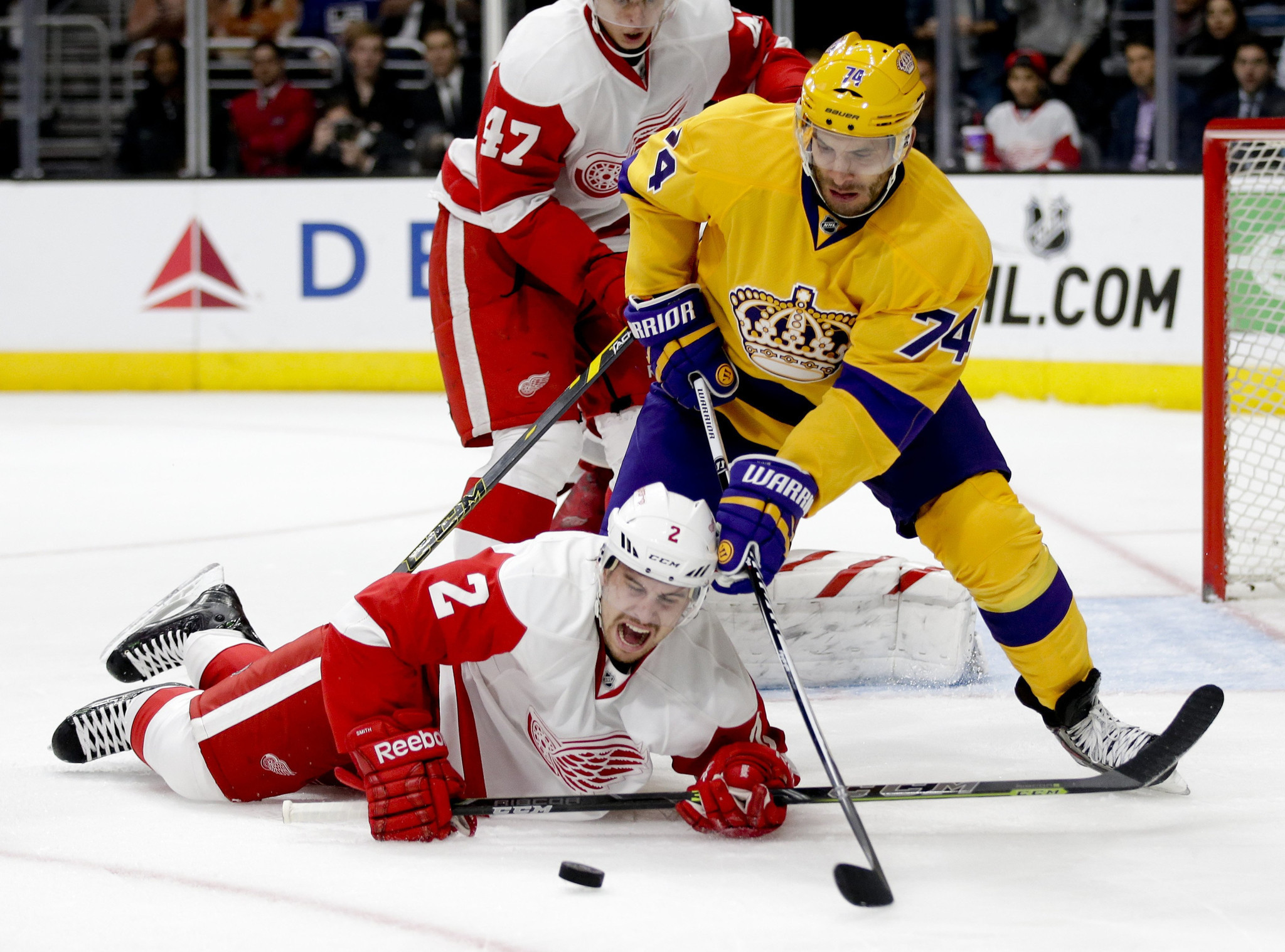 Kings Make It Eight Wins In A Row With 1-0 Victory Over Red Wings