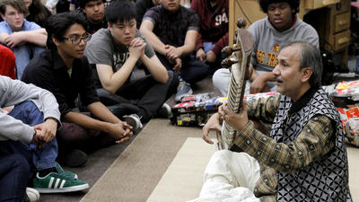 Glendale High students sit in silence for sitar performance