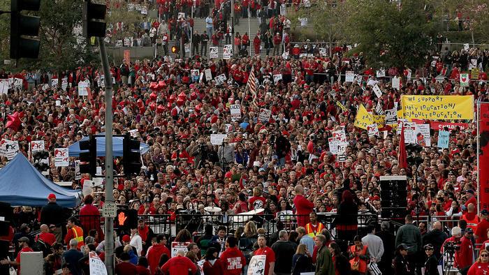 Union demonstration