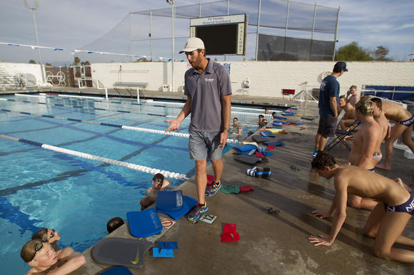 Nhhs Swimmers Excited About New Coach Peirsol Daily Pilot