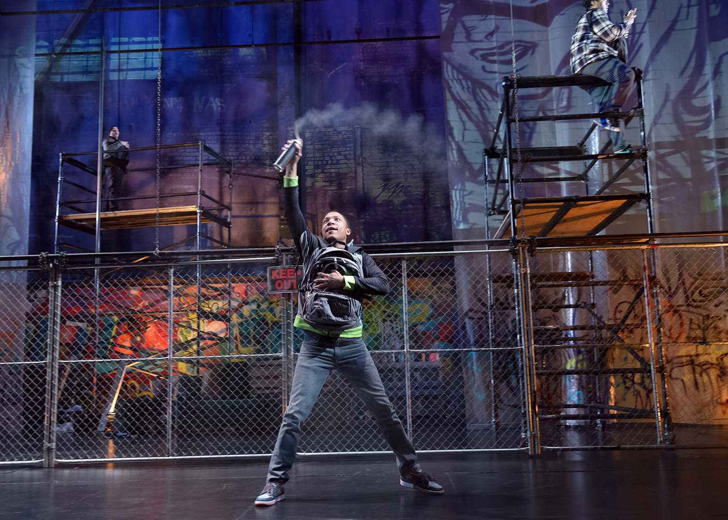 Is A New Show At Steppenwolf Glorifying Graffiti Chicago Tribune
