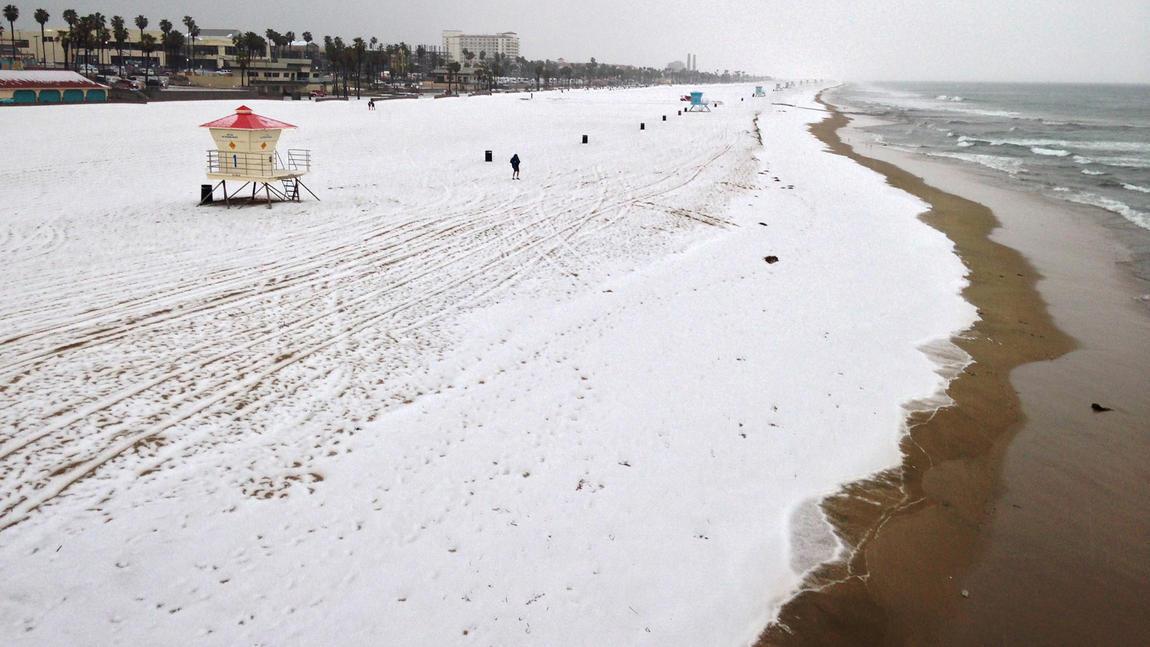 Huntington Beach Hail Pictures