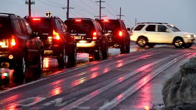 Road crews prepare for icy rush hour