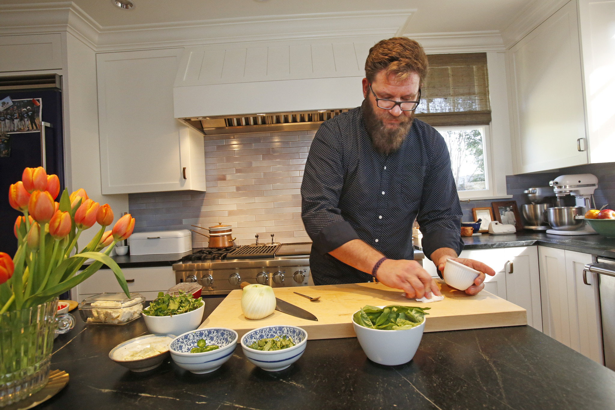 Been cooking in the kitchen for three weeks and were deeply in love - Chefs Cimarusti And Echiverri Cook Up Ideas For Their Home Kitchen La Times