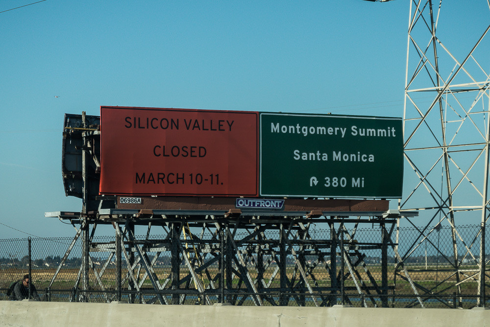 L.A. tech conference billboard urges Silicon Valley to take a break
