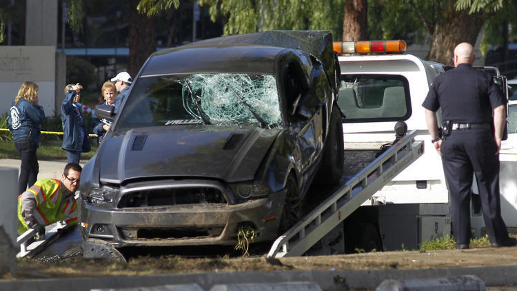 Car Accident North Hollywood  Mustang