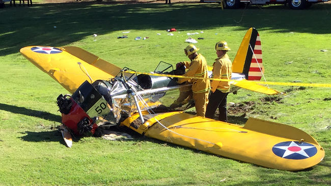 Harrison Ford plane crash: Video shows moment Star Wars star's ...