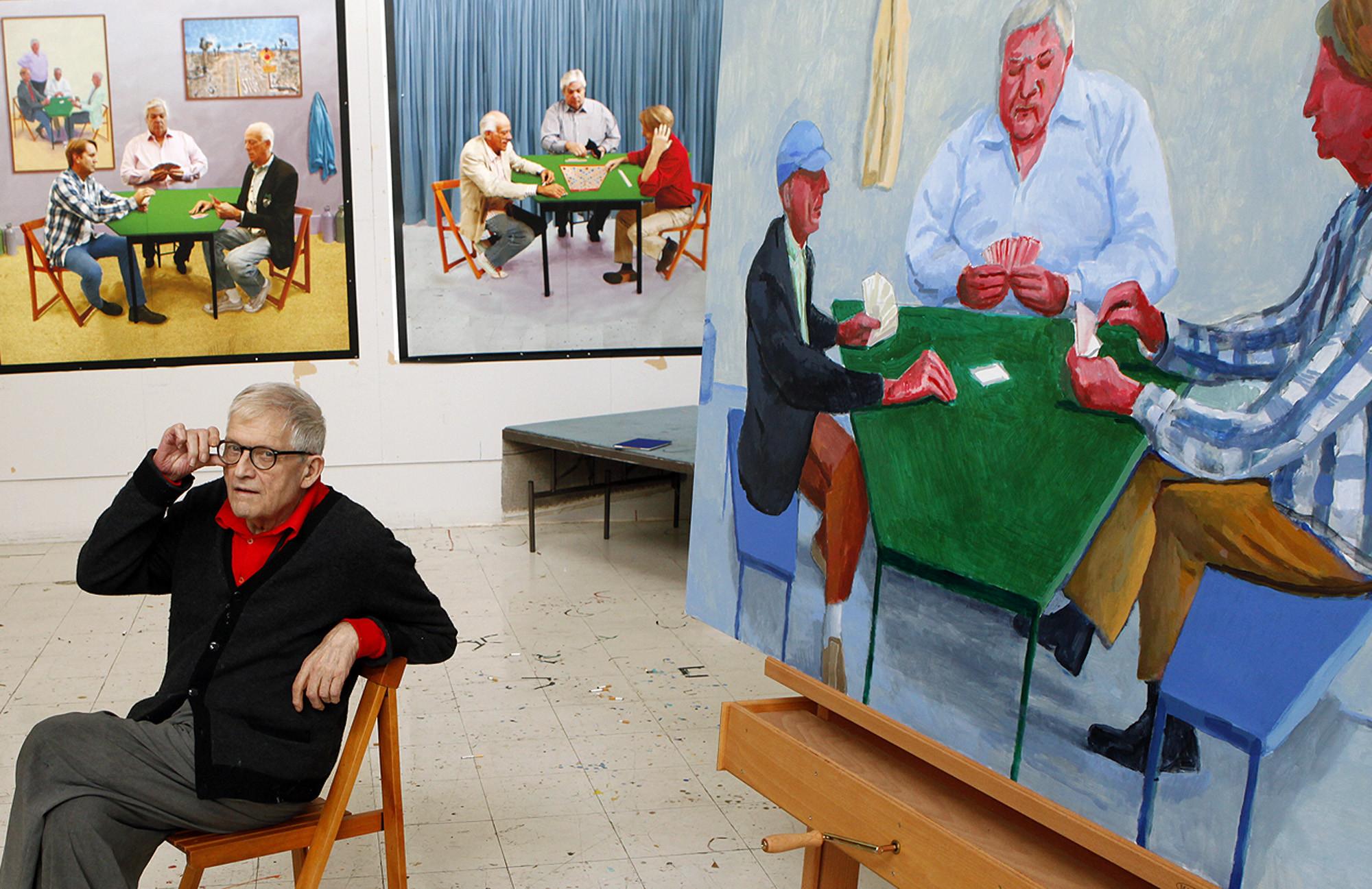 Est100 some photos david hockney for David hockney painting