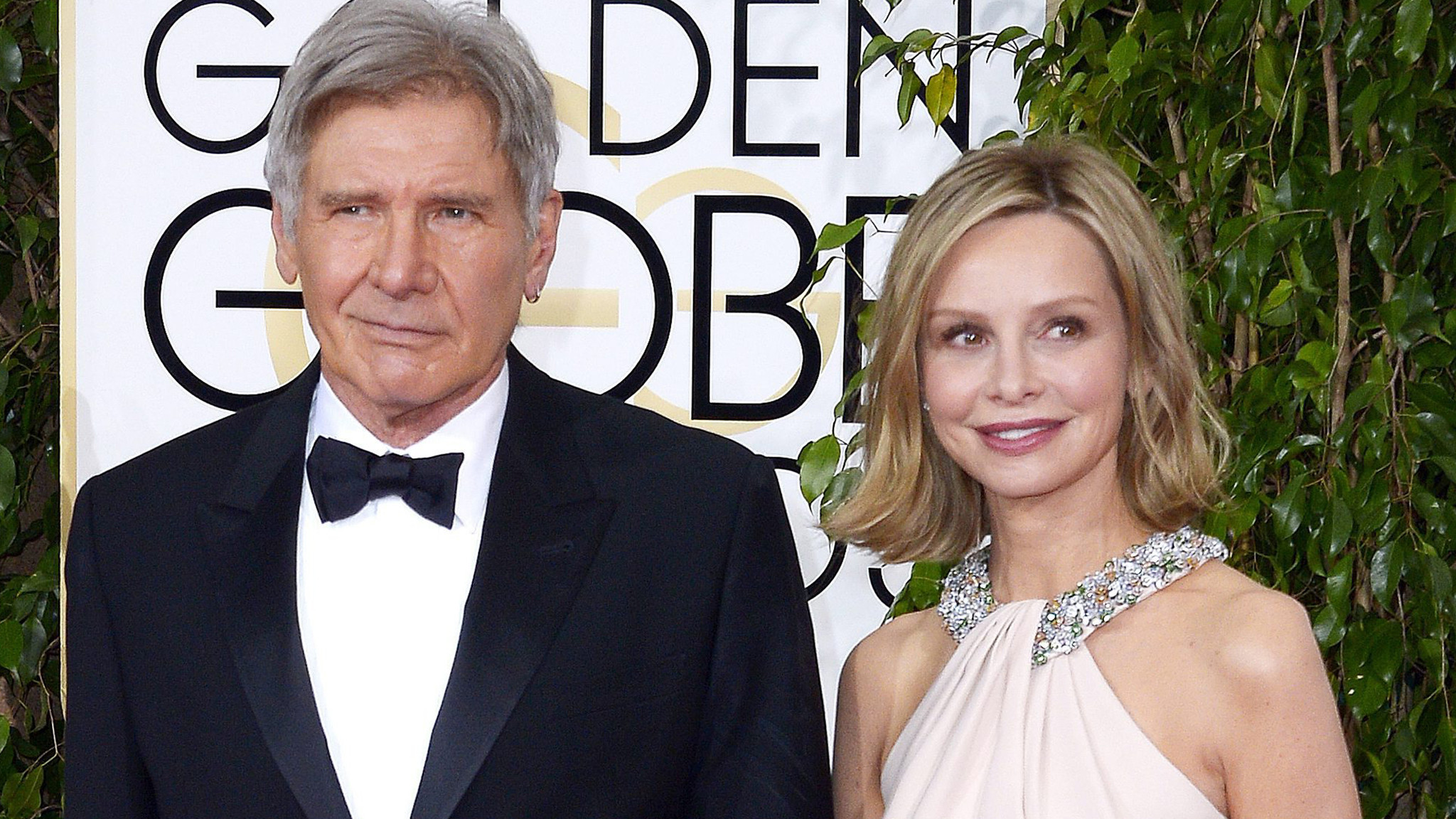 Harrison Ford S Wife Calista Flockhart With Him At