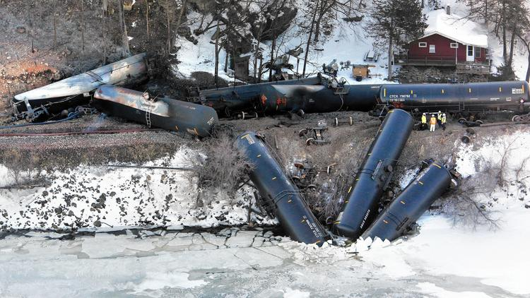 Train derailment in Iowa spills ethanol