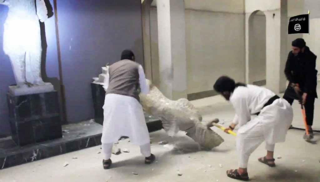 Propaganda video may be a cover for Mosul Museum looting
