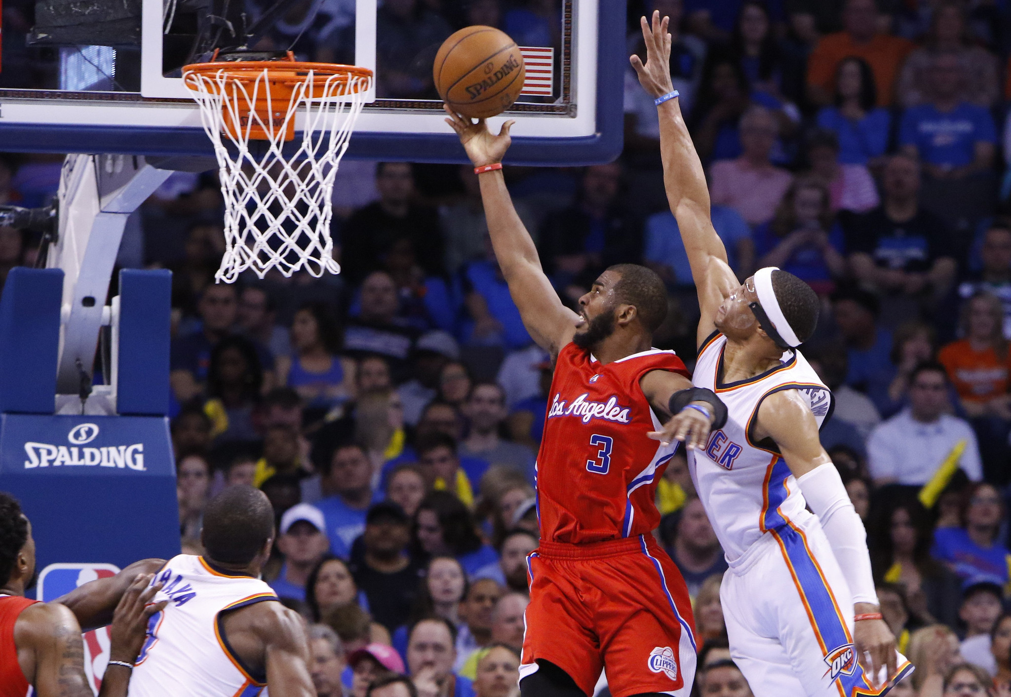 Defense makes Clippers' Chris Paul happy in win over Thunder, 120-108