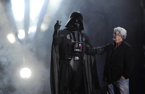 "The saga continues in the seventh installment of the ""Star Wars"" series created by George Lucas. The latest film is being directed by J.J. Abrams."