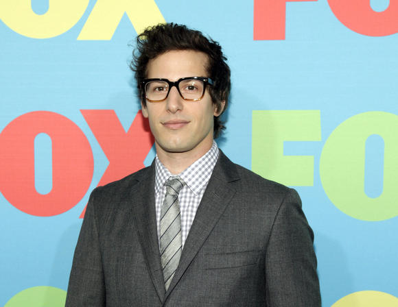 Andy samberg attends the fox network 2014 upfront event in new york