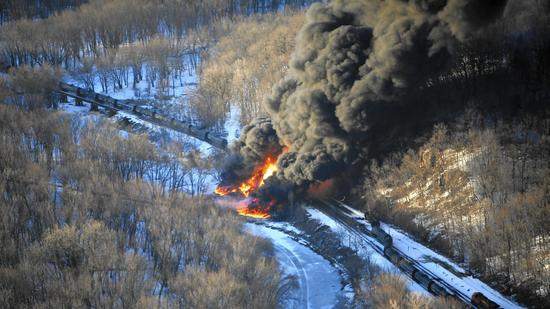 Oil train wreck in Illiniois