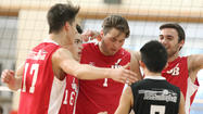 Photo Gallery: Burroughs boys volleyball beats St. Francis