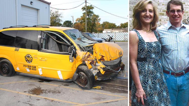 Chicago Yellow Cab, pictured with victims