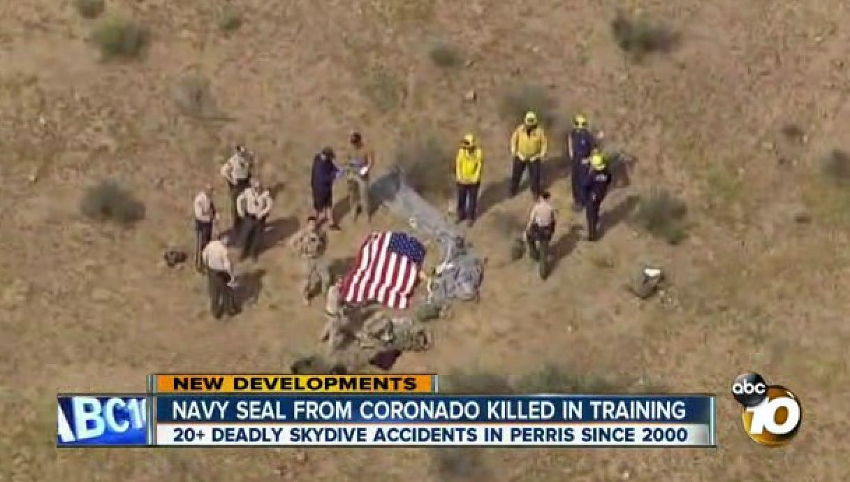 Navy SEAL dies in parachute training accident in Southern California